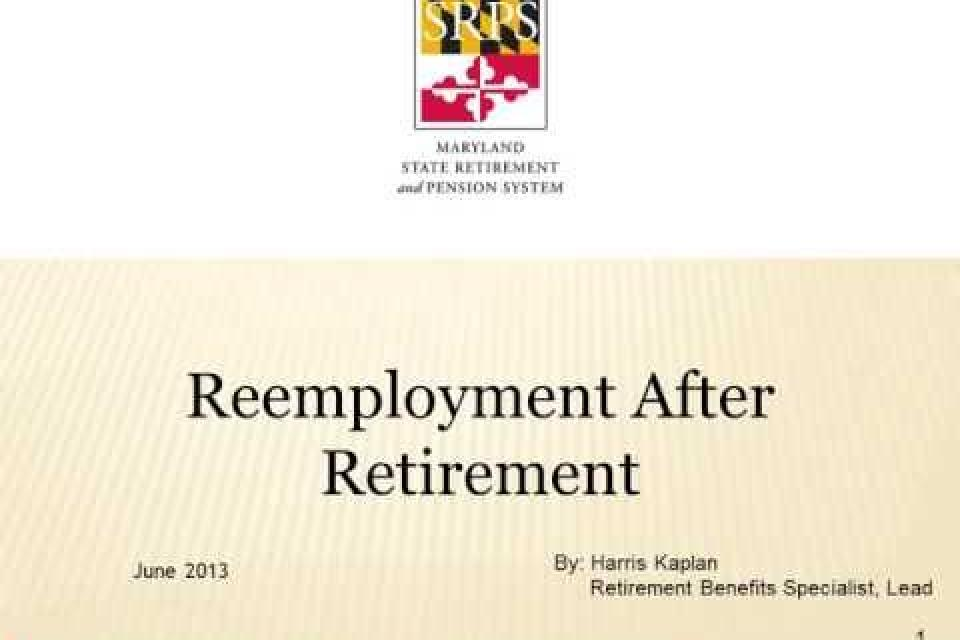 Reemployment After Retirement Video
